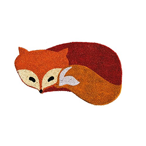 fox-shaped-coir-welcome-mat