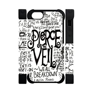 Hoomin Simple Fashion Pierce the Veil Quotes iPhone 5 Cell Phone Cases Cover Popular Gifts(Dual protective)