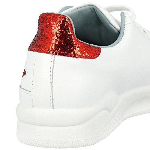 Cf1912 Weiss Klare Ferragni Dame Leder Sneakers TDHTWCY8