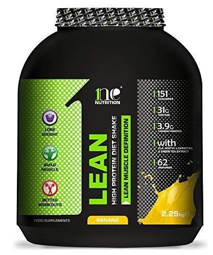 1ne Nutrition Lean Dieta Combustible 2.25kg Ultramagro Control de Peso Sustituto de Comida Sacudir Polvo