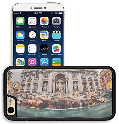 Liili Apple iPhone 6 iPhone 6S Aluminum Backplate Bumper Snap iphone6/6s Case iPhone6 IMAGE ID 32391999 Vintage style photograph of Trevi Fountain Fontana di Trevi Rome Italy