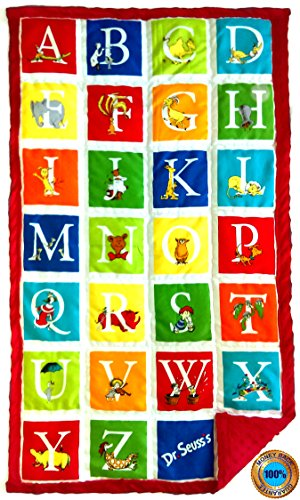 Weighted Sensory Blankets by ReachTherapy Solutions - Choose from 8 Different Designs & 5 to 15 lbs (25'' x 45'' - 8 lbs, Alphabet Seuss) by ReachTherapy Solutions