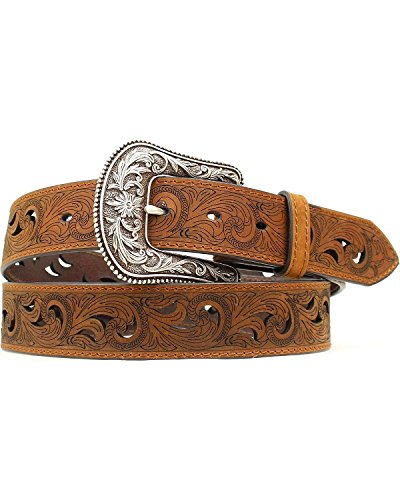 - Ariat Women's Scroll Paisley Pierced Belt Brown SM (30