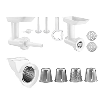 kitchenaid mixer attachments slicer. kitchenaid kgssa stand mixer attachment pack 2 with food grinder, rotor slicer \u0026 shredder, kitchenaid attachments c