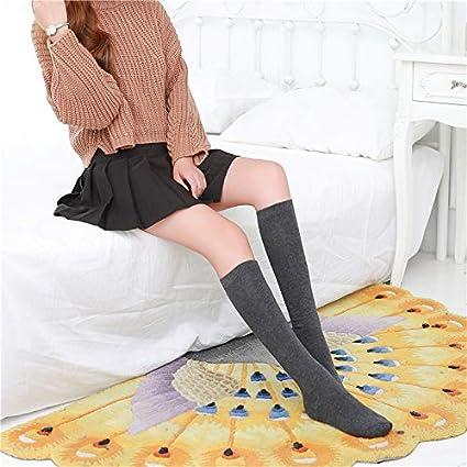 Andre Home Calcetines de Tubo Femeninos y Calcetines de Color sólido de otoño e Invierno Calcetines