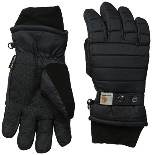 (Carhartt Women's Quilts Insulated Breathable Glove with Waterproof Wicking Insert, Black, Medium)