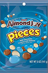 ALMOND JOY PIECES Candy (5-Ounce Peg Bags, Pack of 12)