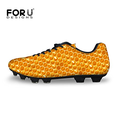 FOR U DESIGNS Yellow Creative Football Boots Shoes Men's ...