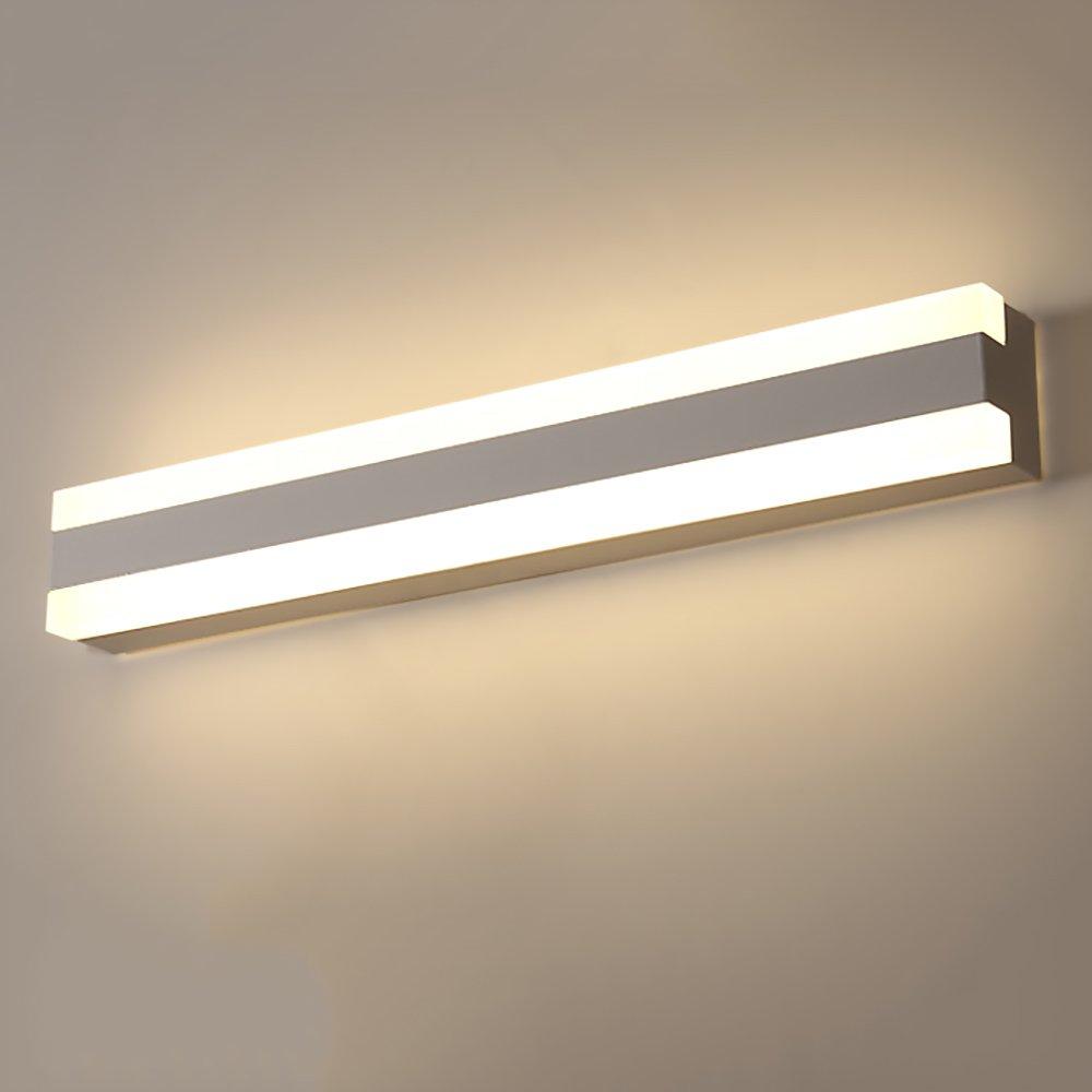 LJHA jingqiandeng LEDモダンミラーフロントライトバスルームメイクアップミラーキャビネットライト耐水性アクリルミラーライト (色 : 暖かい光, サイズ さいず : 100cm-42W) B07L4CR3GK 40cm-15W|暖かい光 暖かい光 40cm-15W