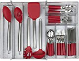 Best Flatware Silverware Kitchen Drawers - Sorbus Flatware Drawer Organizer, Expandable Cutlery Drawer Trays Review