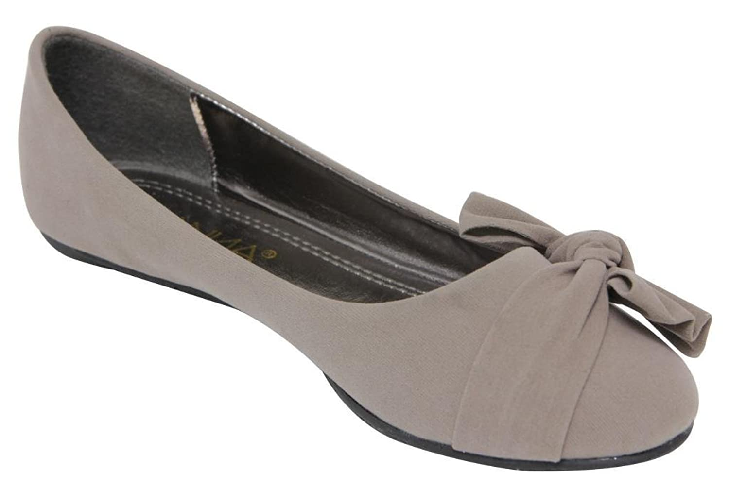 Anna Lily-39 Women's flat loafer oxford slip on boat pleated bow- knot suede shoes