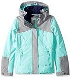 Roxy Big Girls' Flicker Snow Jacket, Aruba Blue, 10/Medium