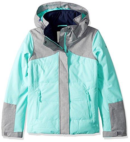 Roxy Big Girls' Flicker Snow Jacket, Aruba Blue, 10/Medium by Roxy