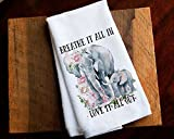 Kitchen Towel Home Decor Gift Baby Elephant