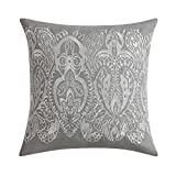 Ombre Lace Blue 18'' Square Embroidered Decorative Throw Pillow