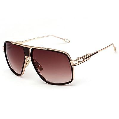 7244a0e6a8cc2 Alger Lunettes de soleil en métal Frame Fashion Street battre Vintage Style  Polarized UV400 conduite lunettes