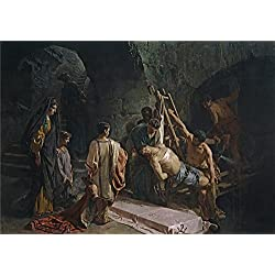 Oil Painting 'Ferrant Y Fischermans Alejandro The Burial Of Saint Sebastian (Saint Sebastian In The Cloaca Maxima) 1877 ' Printing On Perfect Effect Canvas , 20 X 29 Inch / 51 X 72 Cm ,the Best Foyer Decor And Home Decor And Gifts Is This Best Price Art
