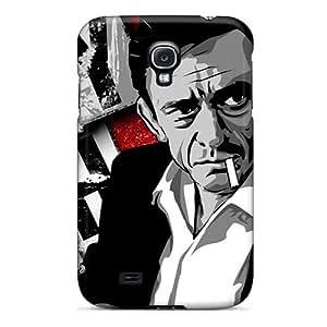 New Johnny Cash Tpu Case Cover, Anti-scratch Phone Case For Galaxy S4