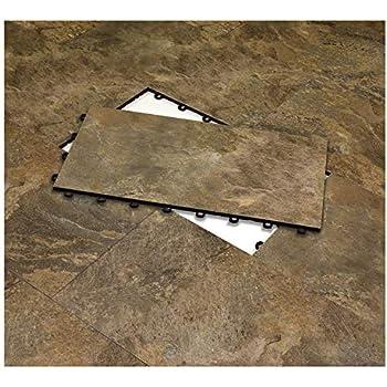 Chevron Graystone IncStores Stone Flex Designer Tiles PVC with Luxury Vinyl Top Multi-Purpose Flooring 20x20 6 Tile Pack Covers 16.67 sqft