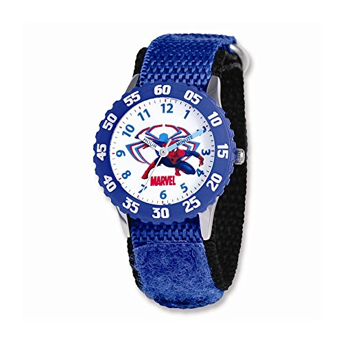 Marvel+Watches Products : Marvel Spiderman Blue Velcro Band Time Teacher Watch