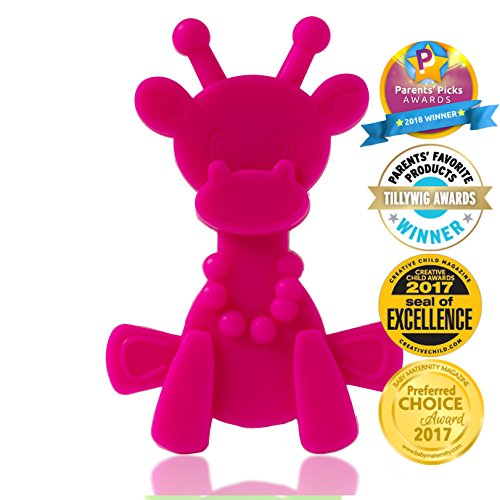Baby Teething Toy Extraordinaire - Little bamBAM Giraffe Teether Toys by Bambeado. Our BPA Free Teethers help take the stress out of Teething, from Newborn Baby through to Infant. by Bambeado