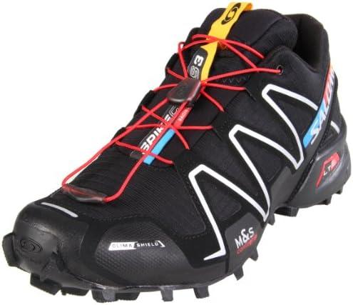 Salomon Spikecross 3 CS de hombres Trail Running Shoe, negro (Black/Black/Bright Red), 6 D(M) US: Amazon.es: Zapatos y complementos