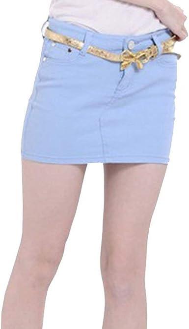 Vaqueros De Las Mujeres Mini Falda De Mezclilla Denim Lápiz Falda Bodycon Faldas Cortas Apretadas Verano Otoño Tamaño SL