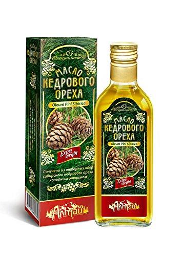 Aceite de nuez de cedro, prensado en frío, procedente de Altai en Siberia, 250 ml: Amazon.es: Salud y cuidado personal