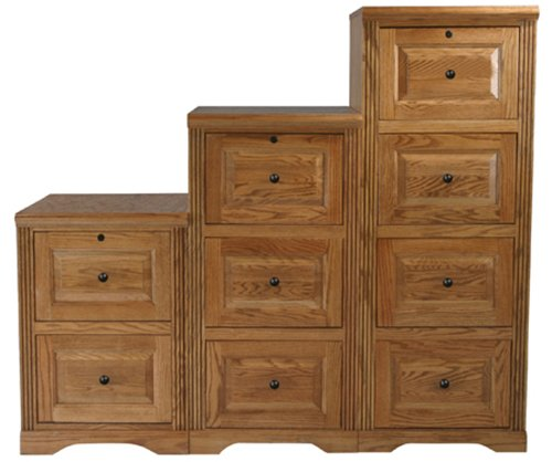 Eagle Oak Ridge 4 Drawer File Cabinet, Light Oak -
