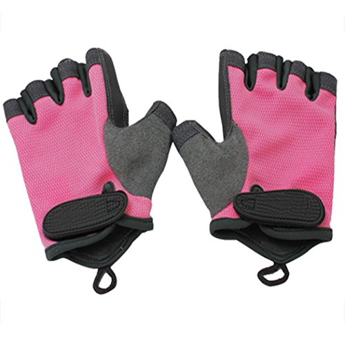 Raylans Women's Workout Gloves Anti-Slip Gym Gloves for Powerlifting,Weight Training,Biking,Cycling Rose (Dorian Rose)