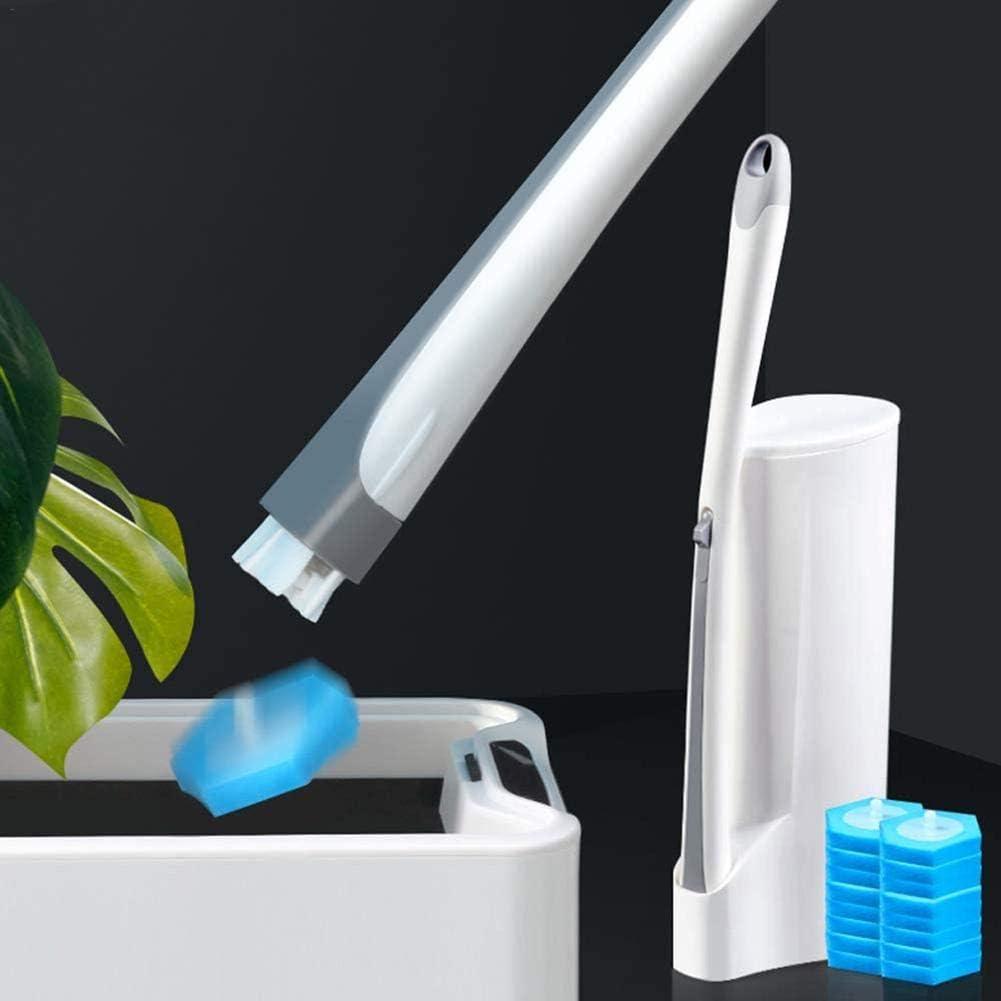 Kit Potente Bacchetta per WC Sistema di Pulizia per WC monouso Spazzola per WC monouso Spazzola Fresca con ricariche Lavabili Thrivinger Bacchetta WC monouso