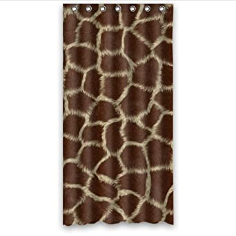 Curtains Ideas 36 wide shower curtain : Amazon.com: classic Giraffe Skin Animal Print pattern 100 ...