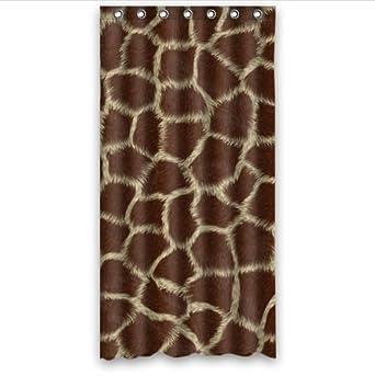 Curtains Ideas 36 wide shower curtain : Amazon.com: classic Giraffe Skin Animal Print pattern 100 ...