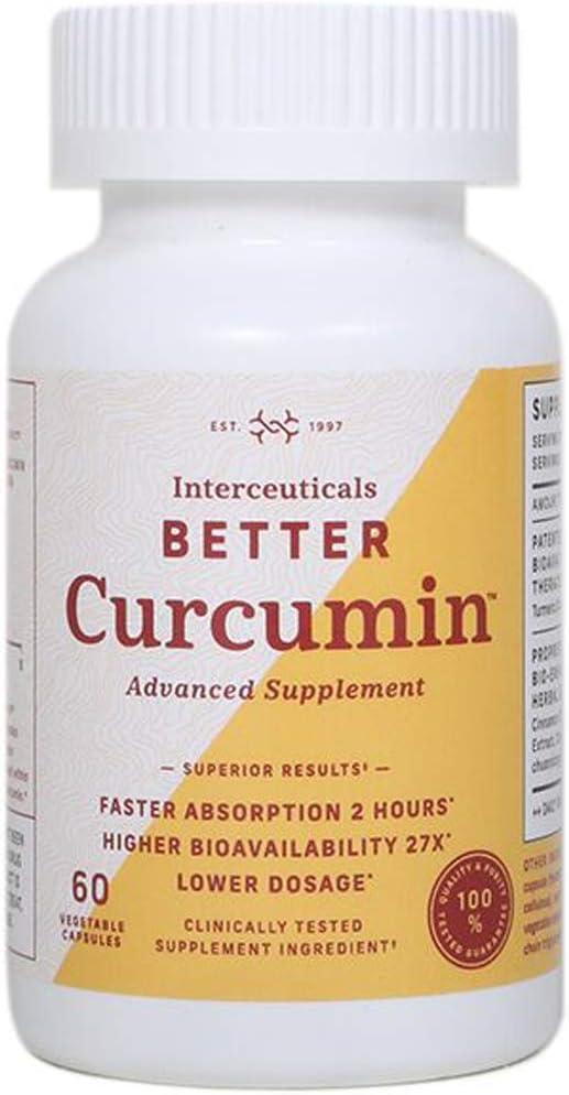 Interceuticals Better Curcumin – Theracurmin Curcumin 90 mg – 27X Bioavailable Turmeric* – High Absorption, Low Dose 1 Bottle