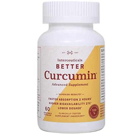 Interceuticals Better Curcumin – Theracurmin Curcumin 90 mg – 27X Bioavailable Turmeric* – High Absorption, Low Dose 1 Bottle