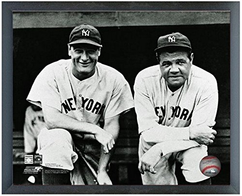 "Babe Ruth & Lou Gehrig New York Yankees MLB Action Photo (Size: 12"" x 15"") Framed"