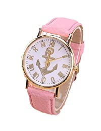 Cokoo Cute Women Wrap Analog Quartz Gold Dial Wrist Watch with Pink Band Bracelets
