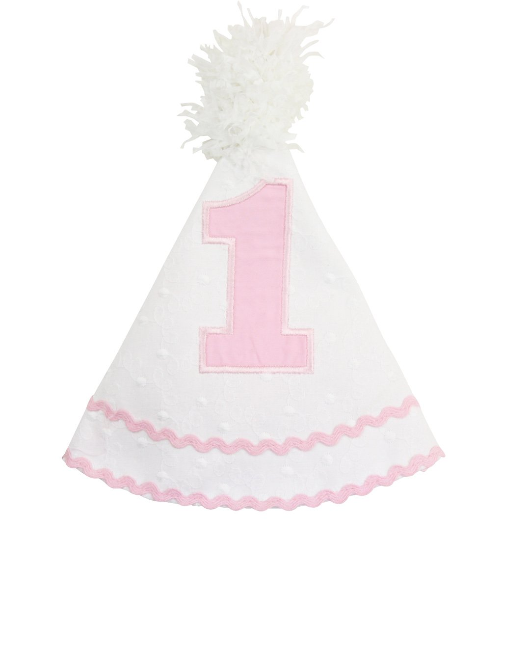 RuffleButts Little Girls Swiss Dot Birthday Hat - One Size