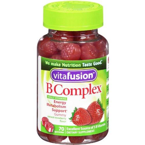 Complexe de Vitafusion B Gummy vitamines pour adultes, 70 bonbons à la gélatine, Bottl (420 Gummies)