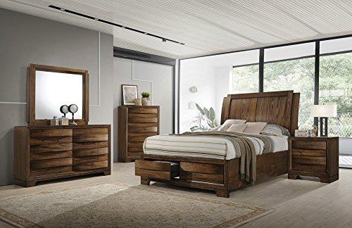 (Coaster Home Hunter Transitional Cognac Queen Bed)