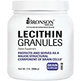 Bronson Labs: Lecithin Granules 7500 MG (1 Lbs, 454 Grams, or 16 Ounces), Made in USA