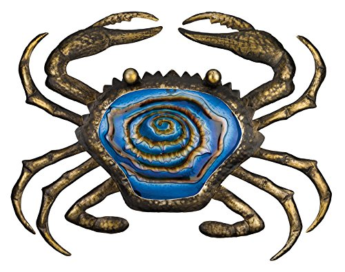 Regal Art & Gift Bronze Crab Wall Decor, 20-Inch (Metal Crab)