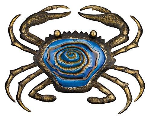 Metal Crab - Regal Art & Gift Bronze Crab Wall Decor, 20-Inch