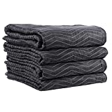 Moving Blanket (4-pack) 72'' X 80'' US Cargo Control - Supreme Mover (90 Lbs/doz, Black/white)