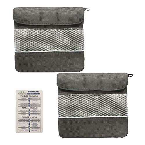 2 Pack of Gray Funk Fighter Odorless Pocket Bag with Twin Canaries Chart (Bag Fighter)
