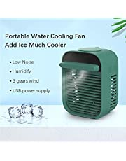M-GLT Ventilador de enfriamiento de Agua Conveniente acondicionador de Aire Humidificador Refrigerador de Aire Ventilador de Niebla de Hielo Hidratación de bajo Ruido Uso Familiar