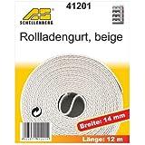 Schellenberg 41201 Roller Shutter Winding Belt 14 mm x 12.0 m Beige by Schellenberg