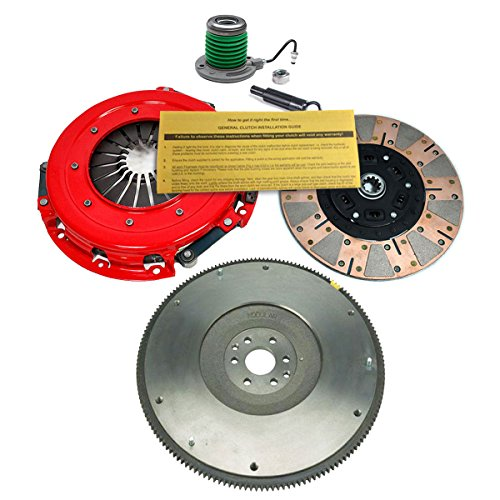 Friction Dual Clutch Kit (EFT STAGE 3 DUAL-FRICTION CLUTCH KIT & STEEL FLYWHEEL 05-10 FORD MUSTANG GT 4.6L)
