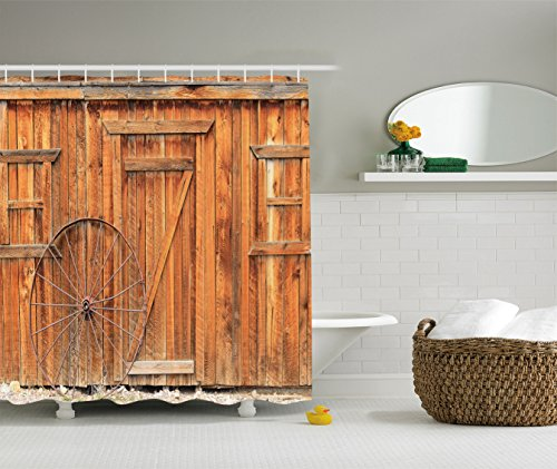 Ambesonne Ancient Weathered Polyester Bathroom
