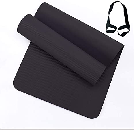 X Zhc Yoga Mat 8 10mm Thick Non Slip Exercise Yoga Mats Nbr Eco Friendly Fitness Mats With Straps Lightweight For Home Gym Workout Yoga Pilates Women And Men Pilates And Fitness Amazon Co Uk Sports Outdoors